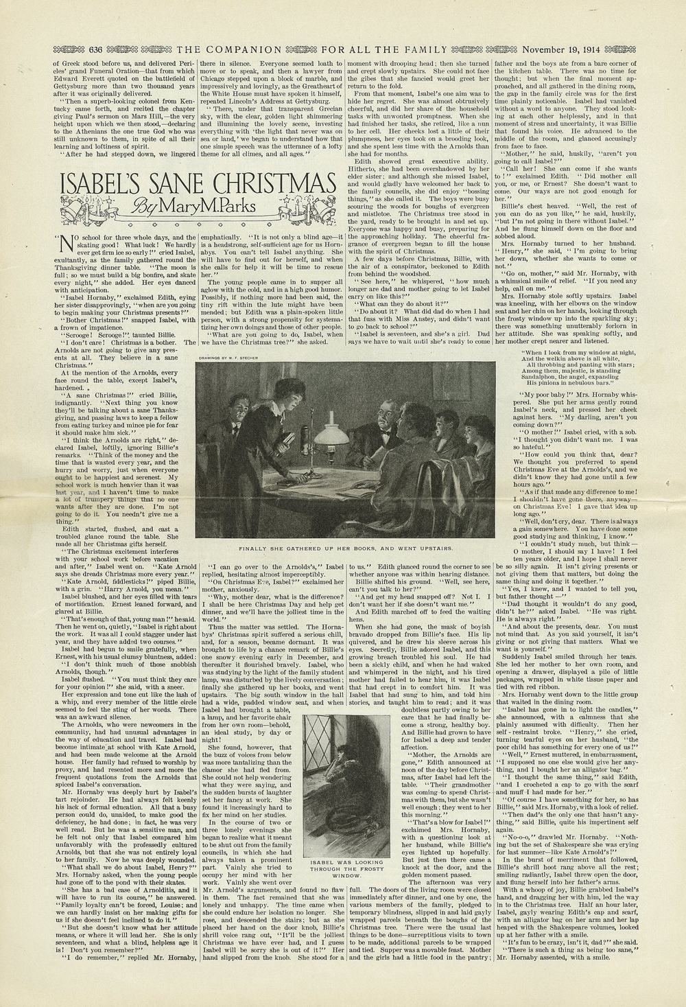 The Youth's Companion - November 19th, 1914, New England Edition, Vol. 88, No. 47