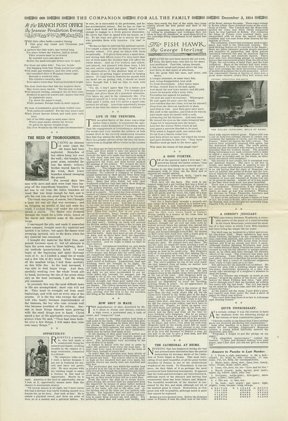 The Youth's Companion - December 3rd, 1914 - New England Edition