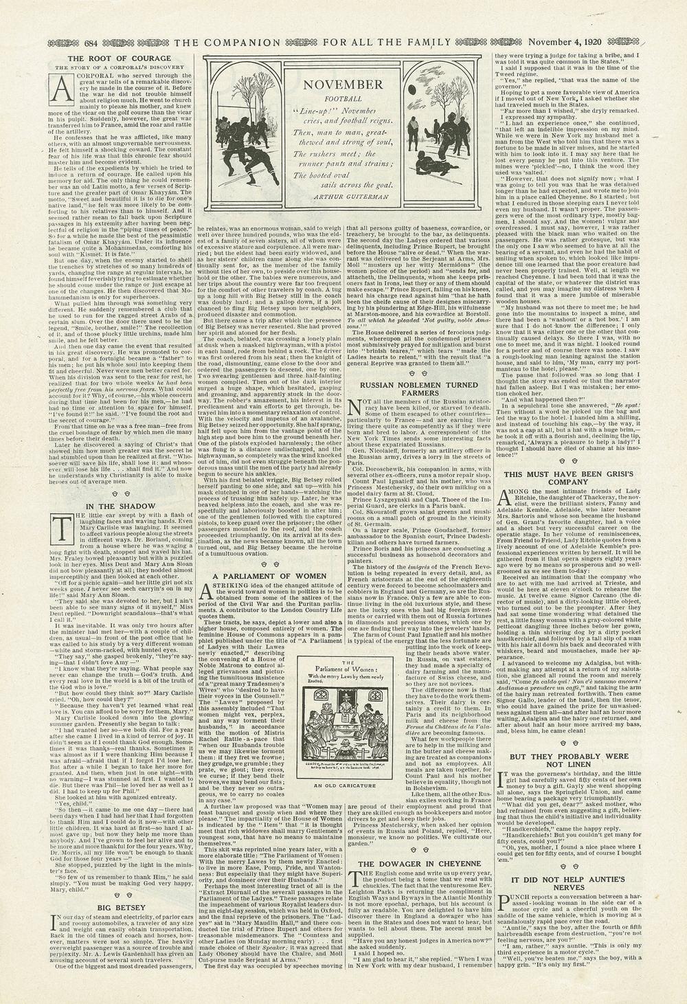 The Youth's Companion - November 4th, 1920 - Vol. 94 - No. 45